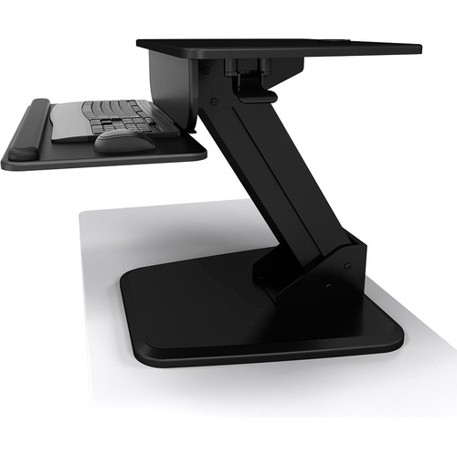 """Atdec Sit-Stand Riser - Freestanding - Total load capacity of 28.6 lbs.; Keyboard and Mouse tray: 23.6"""" x 9.6""""; Freestandi"""
