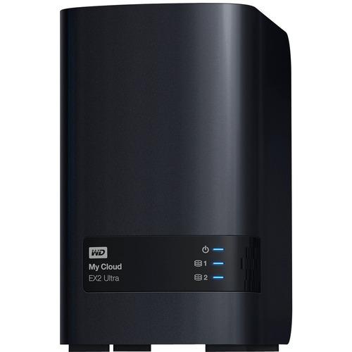 WDBVBZ0080JCH-NESN WD 8TB My Cloud EX2 Ultra Network Attached Storage - NAS - WDBVBZ0080JCH-NESN - Marvell Armada 385 385