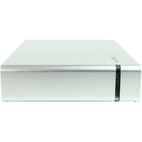 """Rocstor CommanderX EC31 4TB 3.5"""" External Hard Drive - USB 3.1 / USB 3.0 - SATA - 7200rpm - Desktop - Silver - AES 256-bit"""