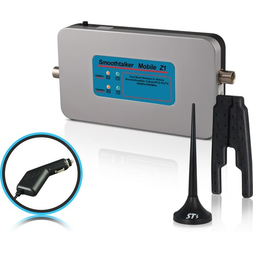 """Smoothtalker Mobile Z1 50dB Wireless Cellular Signal Booster With 3"""" Mini Mag Ant MOBILE CELL SIGNAL BOOSTER"""