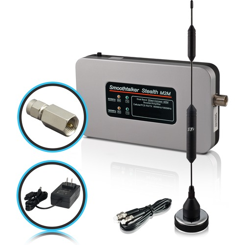 """Smoothtalker Stealth M2M Direct Connect Booster Kit And 14"""" Mag Ant. AC Power CELL BOOSTER AC 14IN ANT"""