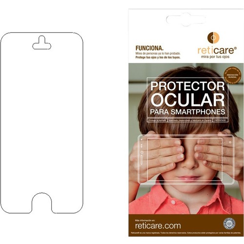 Reticare Screen Protector - For LCD iPhone - Silicone - 1 Pack SE/5C/5S/5 BLACK BORDER