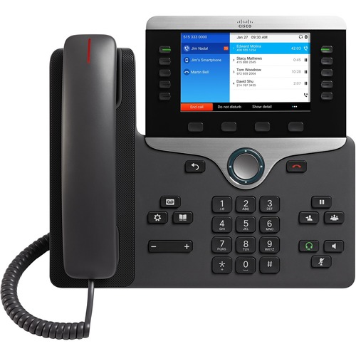 Cisco IP Phone 8851 shipped with multiplatform phone firmware - 5 x Total Line - VoIP - User Connect License, Unified Comm