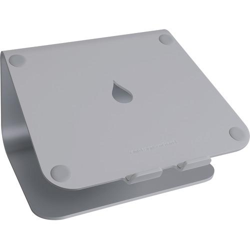"Rain Design mStand Laptop Stand - Space Grey - 5.9"" Height x 10"" Width x 9.3"" Depth - Desktop - Aluminum - Space Gray GREY"