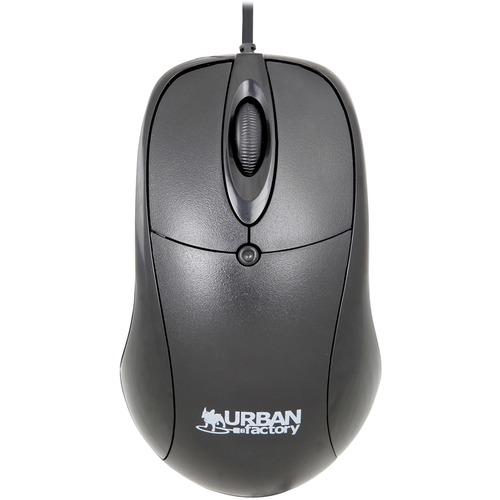 Urban Factory Crazy Mouse - Cable - Black - USB - 800 dpi - Scroll Wheel