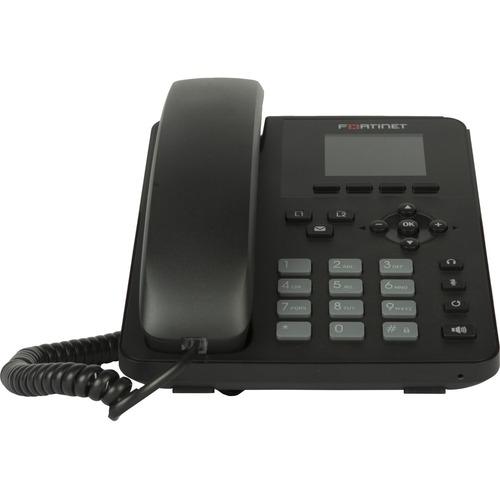 Fortinet FortiFone FON-175 IP Phone - Corded/Cordless - Corded - Bluetooth - Desktop - Black - VoIP - 2 x Network (RJ-45)