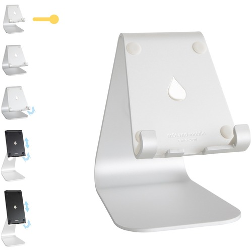 """Rain Design mStand mobile-Silver - Up to 8"""" Screen Support - Aluminum - Silver FITS ALL IPHONE & SMART PHONE"""