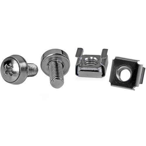 StarTech.com Schraube, Sattel - TAA-konform - Käfigmutter, Rack-Schraube - Edelstahl - Silber - 1Paket