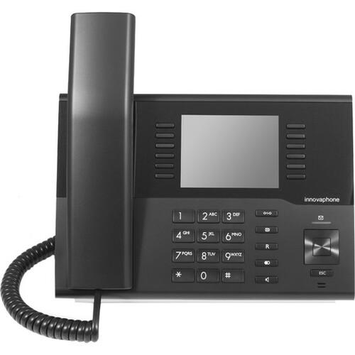 innovaphone IP222 IP-Telefon - Schwarz - VoIP - 2 x Netzwerk (RJ-45) - PoE Ports