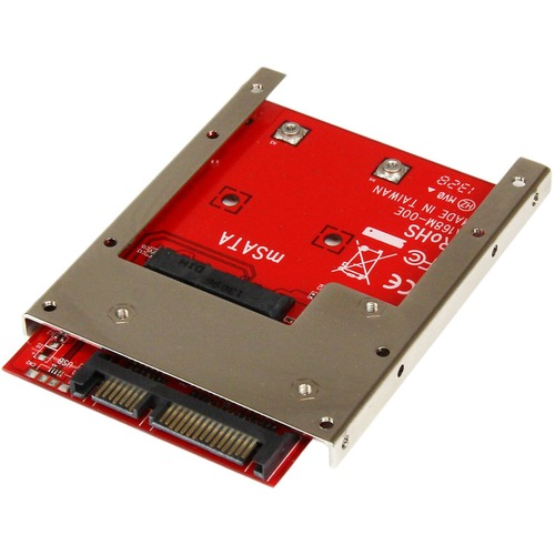 """StarTech.com Laufwerksschachtadapter für 2.5"""" SATA/600 - Serial ATA/600 Host Interface Intern - Rot - TAA-konform - 1 x SS"""