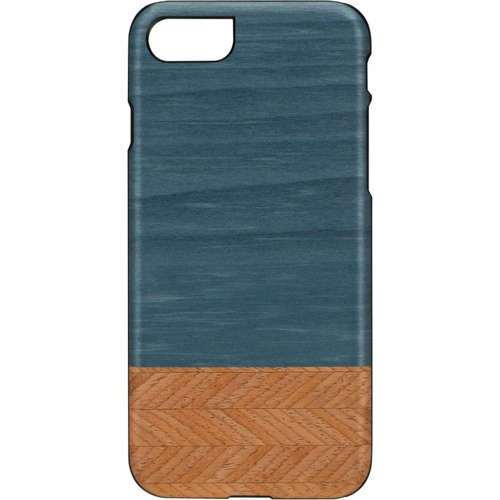 Man&Wood iPhone 7 Slim Denim - For Apple iPhone 7 Smartphone - Denim, Black - Smooth - Scratch Resistant - Wood, Polycarbo