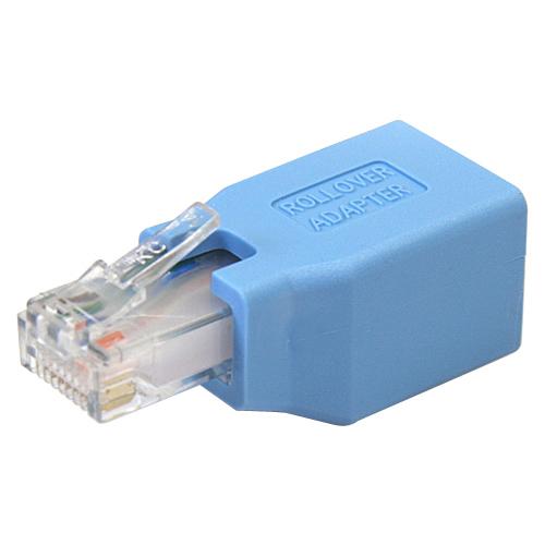StarTech.com ROLLOVER Netzwerkadapter - 1 x RJ-45 Buchse Netzwerk - 1 x RJ-45 Stecker Netzwerk - Blau