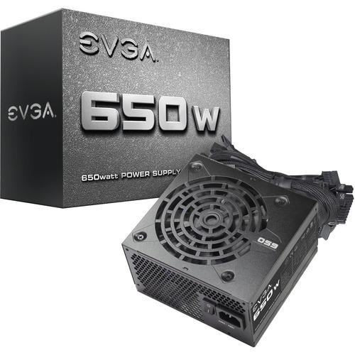 EVGA 650W Power Supply - Internal - 120 V AC, 230 V AC Input - 3.3 V DC @ 24 A, 5 V DC @ 20 A, 12 V DC @ 52 A, 5 V DC @ 3