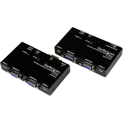 StarTech.com Video-Extender-Transmitter/Receiver - Verkabelt - 1 Eingabegerät - 4 Ausgabegerät - 152,40 m Reichweite - 2 x
