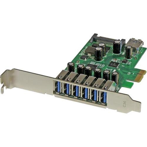 StarTech.com USB Adapter - PCI Express x1 - Plug-in-Karte - 7 Total USB Port(s) - 7 USB 3.0 Port(s) - PC, Linux