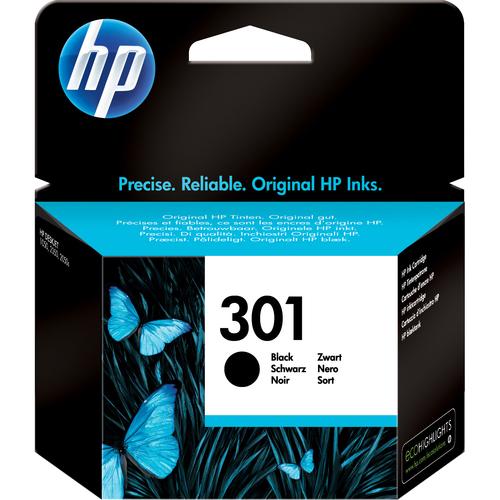 HP 301 Tintenpatrone - Schwarz Original - Tintenstrahl - 1er Pack