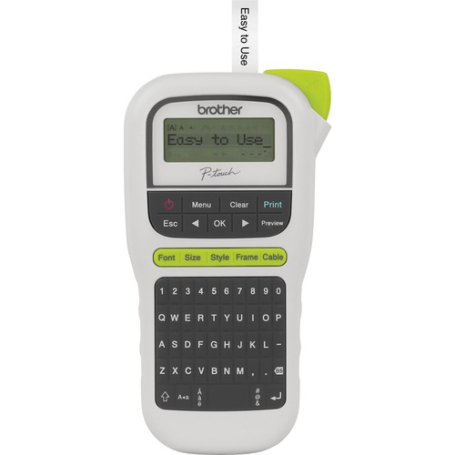 Brother PT-H110 Electronic Label Maker - Thermal Transfer - 20 mm/s Mono - 3 Fonts - 180 dpi - Tape, Label3.50 mm, 6 mm, 9