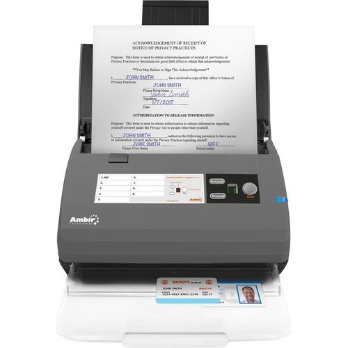 Ambir ImageScan Pro 820ix Sheetfed Scanner - 600 dpi Optical - 48-bit Color - 16-bit Grayscale - 20 ppm (Mono) - 20 ppm (C