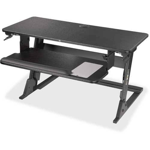 3M Precision Standing Desk - Holds up to 35 lb Load Capacity - 29.2 in x 22.2 in Footprint, Fits 24 in Deep Desk - Medium
