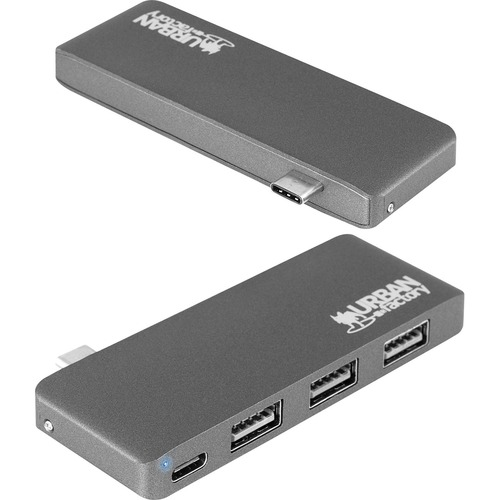 Urban Factory TYPE-C HUB 3xUSB 2.0 - USB Type C - External - 3 USB Port(s) - 3 USB 2.0 Port(s) - Mac, PC