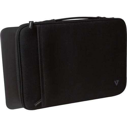 "V7 Elite CSE5H-BLK-9N Carrying Case (Sleeve) for 12"" MacBook Air - Black - Neoprene Exterior, Fleece Interior - Handle - 8"