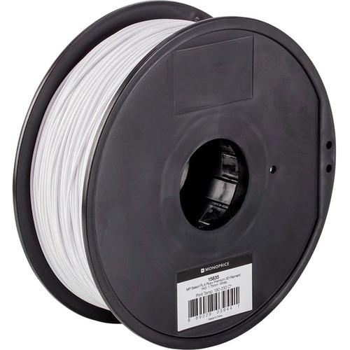 Monoprice MP Select PLA Plus+ Premium 3D Filament 1.75mm 1kg/Spool, White - White - 68.9 mil Filament FILAMENT 1.75MM 1KG/
