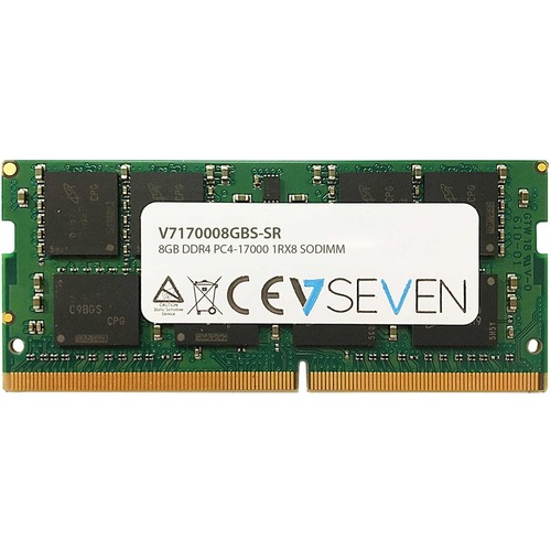 Module de RAM V7 - 8 Go (1 x 8GB) - DDR4-2133/PC4-17000 DDR4 SDRAM - 2133 MHzCL15 - 1,20 V - Non-ECC - Non bufferisé - 260