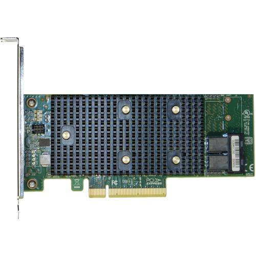 Intel Tri-Mode PCIe/SAS/SATA Entry-Level RAID Adapter, 8 Internal Ports - 12Gb/s SAS, Serial ATA/600 - PCI Express 3.0 x8