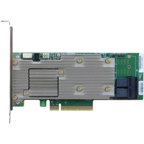 Intel Tri-Mode PCIe/SAS/SATA Full-Featured RAID Adapter, 8 Internal Ports - 12Gb/s SAS, Serial ATA/600 - PCI Express 3.0 x