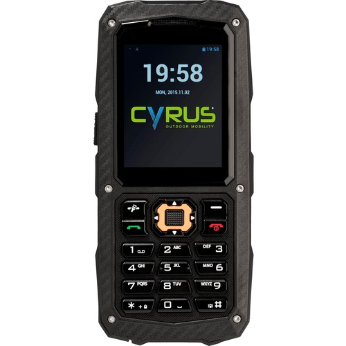 Cyrus CM 8 256 MB Feature Phone - 5,6 cm (2,2 Zoll)QVGA 220 x 176 - MediaTek - 256 MB RAM - 2G - Schwarz - Bar - 2 SIM Sup