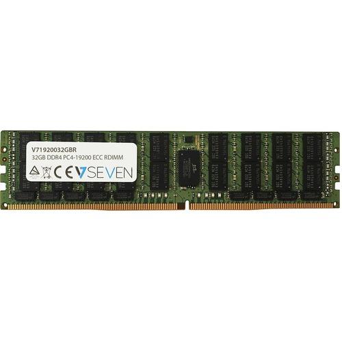 V7 32GB DDR4 PC4-19200 - 24000mhz Server DIMM Memory Module - 32 GB (1 x 32GB) - DDR4-2400/PC4-19200 DDR4 SDRAM - 2400 MHz