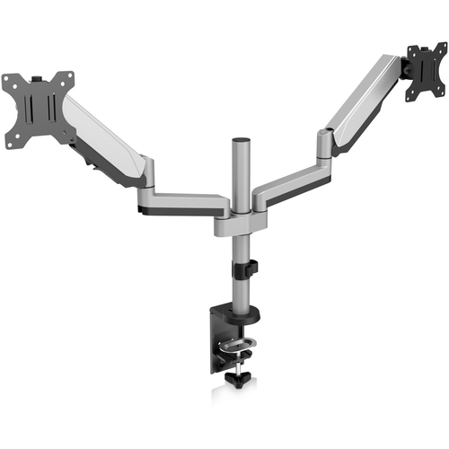 """V7 DM1DTA-1N Desk Mount for Monitor - Silver - 2 Display(s) Supported - 32"""" Screen Support - 34 lb Load Capacity TWO DISPL"""