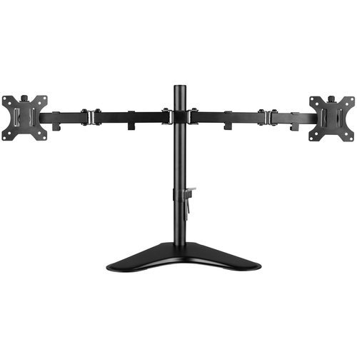 """V7 Dual Desktop Monitor Stand - Up to 32"""" Screen Support - 35.28 lb Load Capacity - 18.3"""" Height x 35.9"""" Width x 11"""" Depth"""