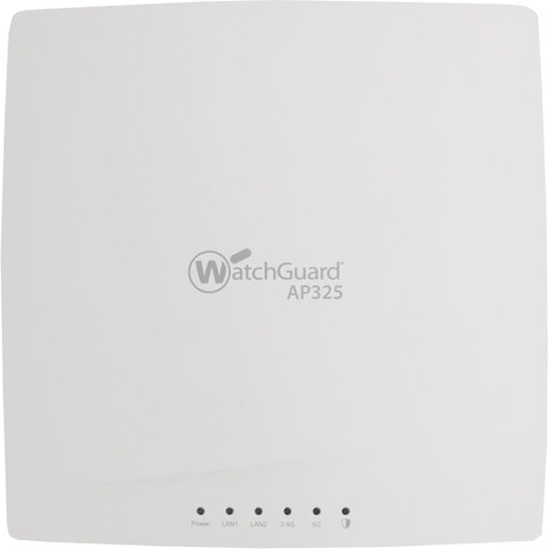 WatchGuard AP325 and 3-yr Secure Wi-Fi - 2.40 GHz, 5 GHz - MIMO Technology - 2 x Network (RJ-45) - PoE Ports - Ceiling Mou