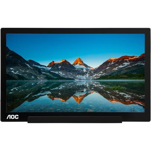 AOC I1601FWUX 39,6 cm (15,6 Zoll) Full HD LED LCD-Monitor - 16:9 Format - Schwarz, Silber - 406,40 mm Class - 1920 x 1080