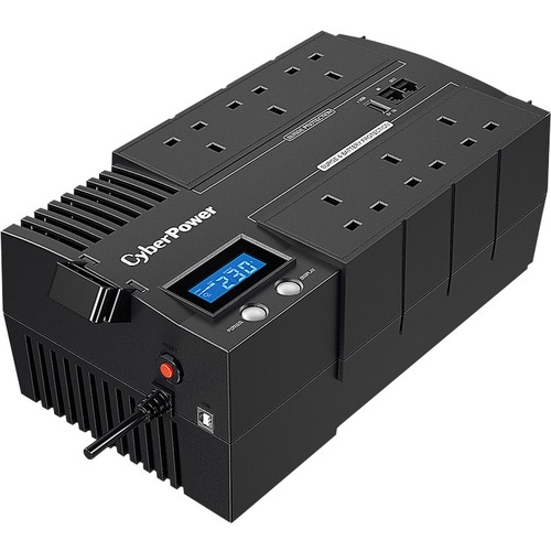 CyberPower BR1200ELCD-UK Line-interactive UPS - 1.20 kVA/720 W - Compact - AVR - 8 Hour Recharge - 2 Minute Stand-by - 230