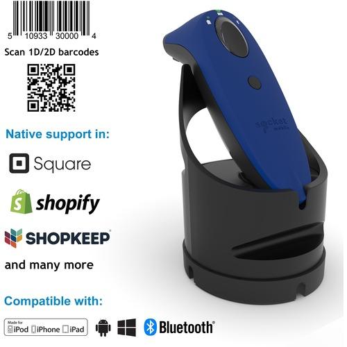 "Socket Mobile SocketScan® S740, Universal Barcode Scanner, Blue & Black Dock - Wireless Connectivity - 19.50"" Scan Distanc"