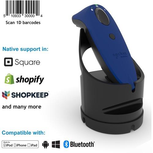 Socket Mobile SocketScan® S700, Linear Barcode Scanner, Blue & Black Charging Dock - Wireless Connectivity - 1D - Imager -