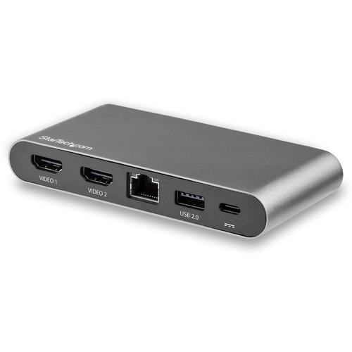 StarTech.com USB-C-Dock - USB-C Multiport Adapter - Dual Monitor - Windows - 2x USB-A Ports - 100W PD 3.0 - GbE - 4 x USB-