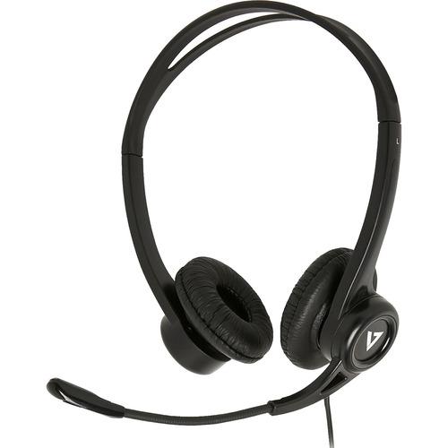 V7 HU311-2NP Headset - Stereo - USB - Wired - 32 Ohm - 20 Hz - 20 kHz - Over-the-head - Binaural - Supra-aural - 5.91 ft C