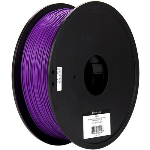 Monoprice MP Select PLA Plus+ Premium 3D Filament 1.75mm 1kg/Spool, Purple - Purple - 68.9 mil Filament FILAMENT 1.75MM 1K