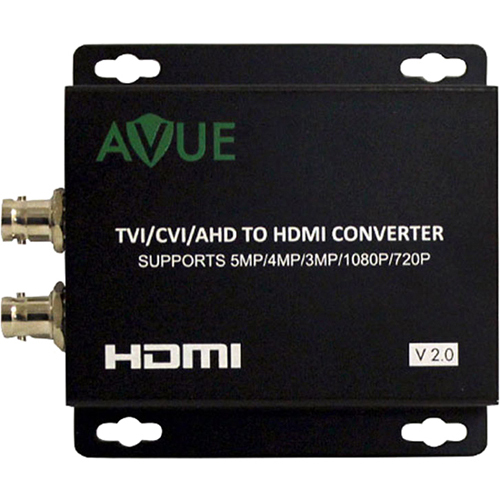 Avue TVH-L11 - TVI/CVI/AHD to HDMI Converter - Functions: Signal Conversion, Video Scaling - 1920 x 1080 - Mountable SUPPO