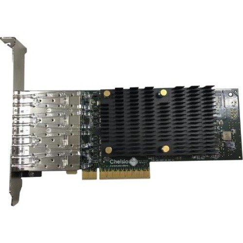 Chelsio High Performance, Quad Port 10GbE Unified Wire Adapter - PCI Express 3.0 x8 - 4 Port(s) - Optical Fiber - 10GBase-