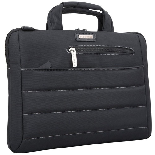 """ECO STYLE Tech Ultra Carrying Case (Sleeve) for 14"""" to 14.1"""" Notebook - Black - Shoulder Strap, Handle FITS UP TO 14.1IN L"""
