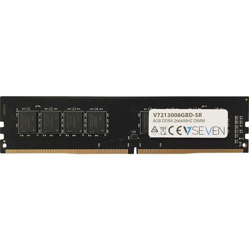 V7 V7213008GBD-SR RAM-Modul - 8 GB - DDR4-2666/PC4-21300 DDR4 SDRAM - 2666 MHz - 1,20 V - Nicht-ECC - Ungepuffert - 288-Pi