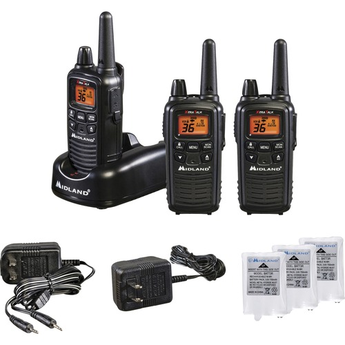 Midland LXT633VP3 Two-Way Radio Three Pack - 22 Radio Channels - Upto 158400 ft - 121 Total Privacy Codes - Silent Operati