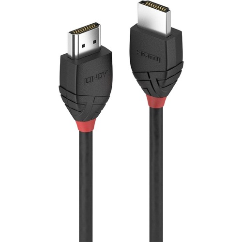 LINDY Black Line 2 m HDMI A/V Cable for Audio/Video Device - First End: 1 x HDMI (Type A) Male Digital Audio/Video - Secon
