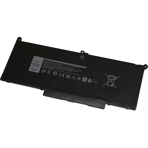 V7 Replacement Battery for Selected DELL Laptops - For Notebook - Battery Rechargeable - 7894 mAh - 7.6 V DC F3YGT 2X39G 0