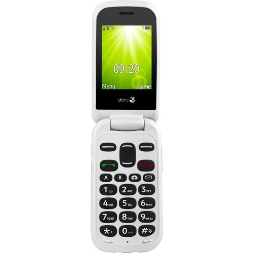 "Téléphone portable standard Doro 2404 - Écran - Écran 6,1 cm (2,4"") QVGA 320 x 240 - 16 Mo RAM - Noir - Flip - 2 Support d"