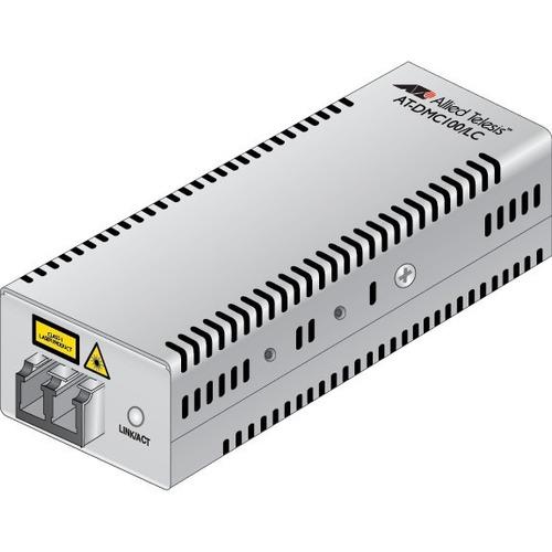 Allied Telesis AT-DMC100/LC Transceiver/Media Converter - 3 Port(s) - 1 x Network (RJ-45) - USB - Twisted Pair, Optical Fi